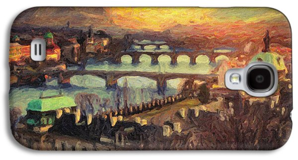 Charles River Paintings Galaxy S4 Cases - Prague Galaxy S4 Case by Taylan Soyturk