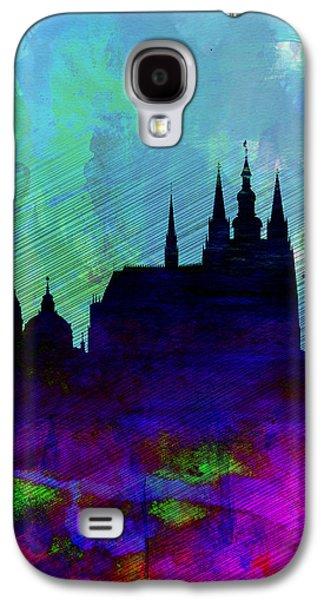 European City Digital Art Galaxy S4 Cases - Prague Watercolor Skyline Galaxy S4 Case by Naxart Studio