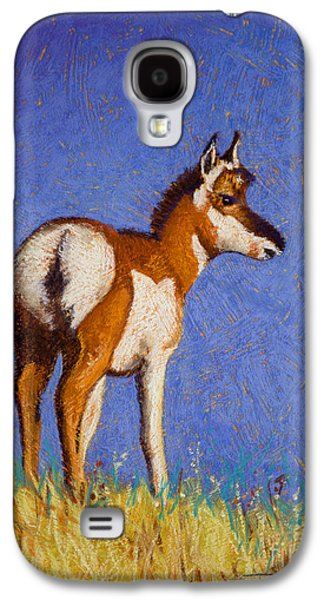 Bison Pastels Galaxy S4 Cases - Prairie Native Galaxy S4 Case by Tracy L Teeter