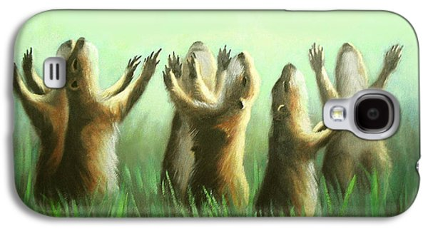 Dogs Digital Art Galaxy S4 Cases - Praising Prairie Dogs Galaxy S4 Case by Anthony Falbo