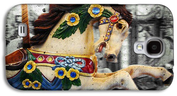 Original Art Photographs Galaxy S4 Cases - Carousel - Prancer Galaxy S4 Case by Colleen Kammerer