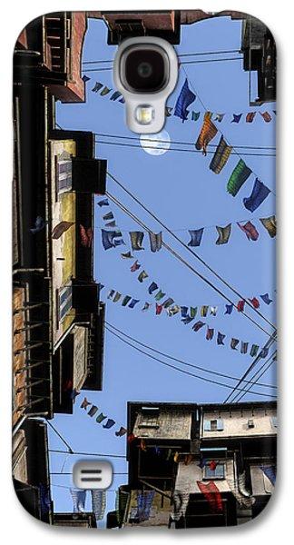 Tibetan Buddhism Galaxy S4 Cases - Prayer Flags Galaxy S4 Case by Cynthia Decker