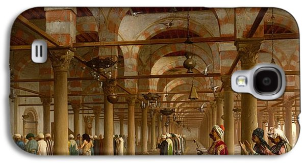 Gerome Galaxy S4 Cases - Prayer in the Mosque Galaxy S4 Case by Jean-Leon Gerome