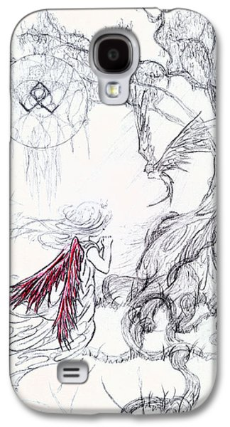 Religious Drawings Galaxy S4 Cases - Prayer Galaxy S4 Case by Kd Neeley