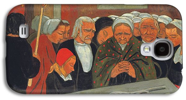 Forgiveness Paintings Galaxy S4 Cases - Prayer to Saint Herbot Galaxy S4 Case by Paul Serusier