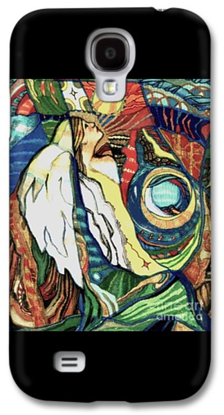 Religious Drawings Galaxy S4 Cases - Praying Angel Galaxy S4 Case by Diane Soule