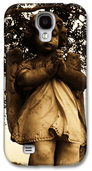 Usa Sculptures Galaxy S4 Cases - Praying Girl Galaxy S4 Case by Nathan Little