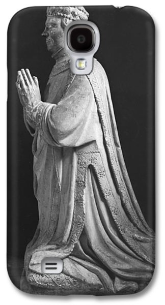 Praying Hands Galaxy S4 Cases - Praying Kneeling Figure Of Duc Jean De Berry 1340-1416 Count Of Poitiers, 15th-18th Century Stone Galaxy S4 Case by French School