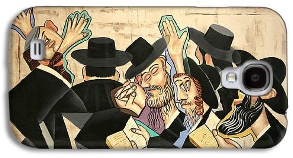 Greeting Digital Art Galaxy S4 Cases - Praying Rabbis Galaxy S4 Case by Anthony Falbo