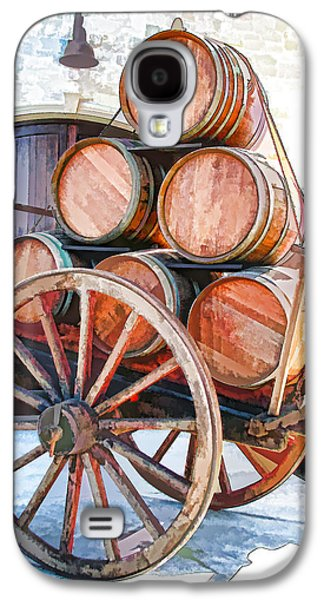 Wine Cart Galaxy S4 Cases - Precious Cargo Galaxy S4 Case by Samuel Sheats