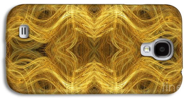 Abstract Digital Mixed Media Galaxy S4 Cases - Precious Metal 3 Ocean Waves Panorama Galaxy S4 Case by Andee Design