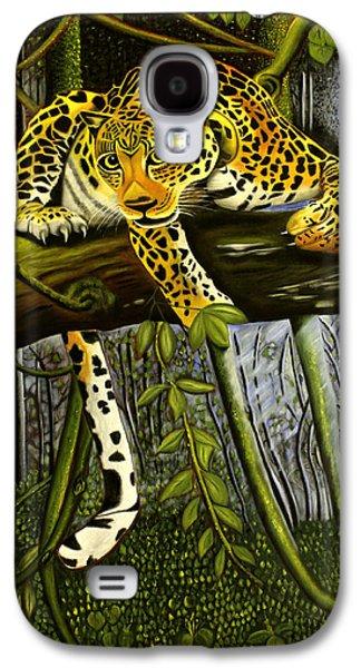 Cheetah Drawings Galaxy S4 Cases - Predator Galaxy S4 Case by Joseph Karaparambil