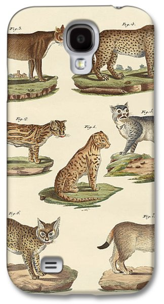 Cheetah Drawings Galaxy S4 Cases - Predators from all parts of the world Galaxy S4 Case by Splendid Art Prints
