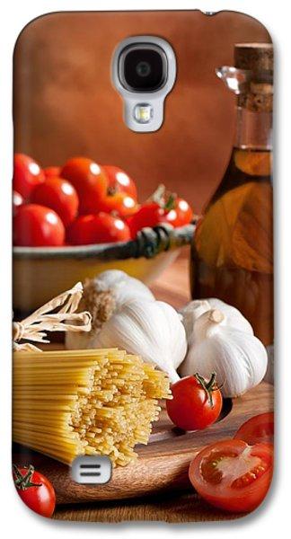 Spaghetti Galaxy S4 Cases - Preparation Of Italian Spaghetti Pasta Galaxy S4 Case by Amanda And Christopher Elwell