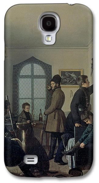 Hunters Galaxy S4 Cases - Preparations For Hunting, 1836 Galaxy S4 Case by Jevgraf Fiodorovitch Krendovsky