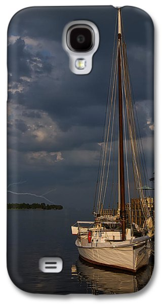 Sailboats In Water Galaxy S4 Cases - Preparing For The Storm Galaxy S4 Case by Chris Flees