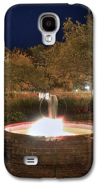 Prescott Photographs Galaxy S4 Cases - Prescott Park Fountain Galaxy S4 Case by Joann Vitali