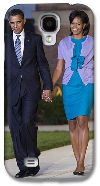Michelle Obama Photographs Galaxy S4 Cases - President and First Lady Galaxy S4 Case by JP Tripp