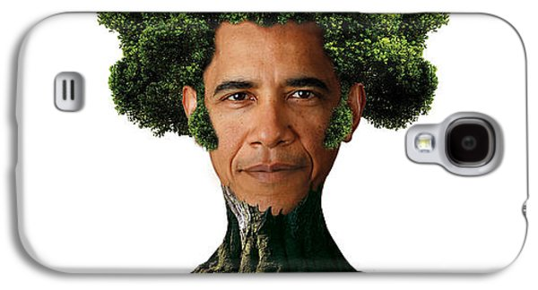 President Obama Galaxy S4 Cases - President Barack Obama as a tree Galaxy S4 Case by Marian Voicu