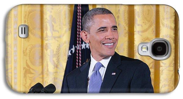 Barack Obama Galaxy S4 Cases - President Barack Obama Galaxy S4 Case by Ava Reaves