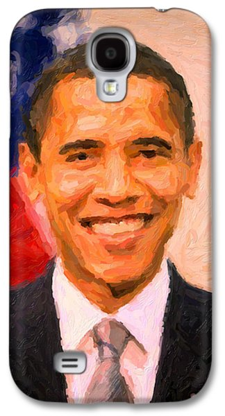 President Barack Obama Galaxy S4 Cases - President Barack Obama Galaxy S4 Case by Celestial Images