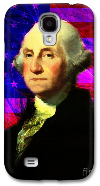 4th July Galaxy S4 Cases - President George Washington v2 m123 Galaxy S4 Case by Wingsdomain Art and Photography
