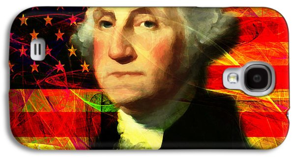 4th July Galaxy S4 Cases - President George Washington v2 m20 square Galaxy S4 Case by Wingsdomain Art and Photography