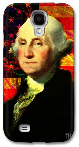 4th July Galaxy S4 Cases - President George Washington v2 m20 Galaxy S4 Case by Wingsdomain Art and Photography