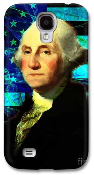 4th July Galaxy S4 Cases - President George Washington v2 p138 Galaxy S4 Case by Wingsdomain Art and Photography