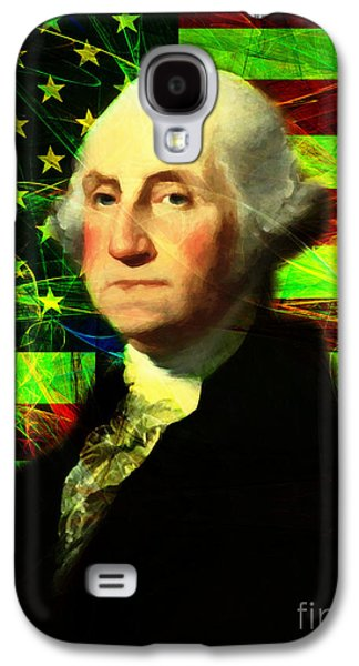 4th July Galaxy S4 Cases - President George Washington v2 p50 Galaxy S4 Case by Wingsdomain Art and Photography