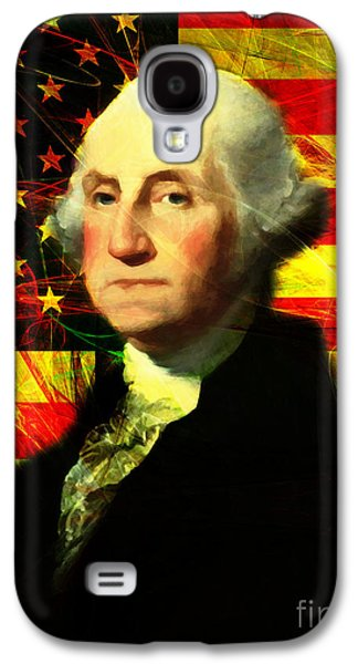 4th July Galaxy S4 Cases - President George Washington v2 Galaxy S4 Case by Wingsdomain Art and Photography