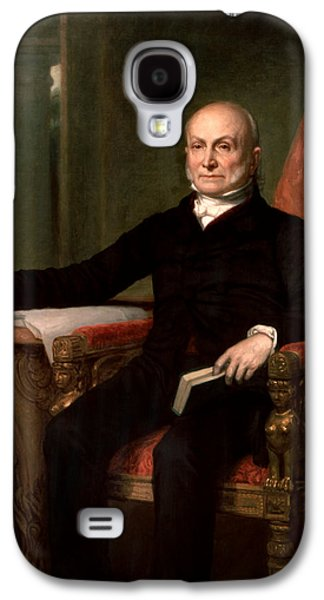 4th July Paintings Galaxy S4 Cases - President John Quincy Adams  Galaxy S4 Case by War Is Hell Store