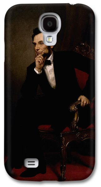 America Paintings Galaxy S4 Cases - President Lincoln  Galaxy S4 Case by War Is Hell Store