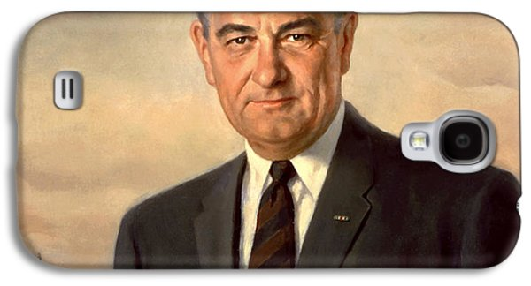 Democrat Paintings Galaxy S4 Cases - President Lyndon Johnson Painting Galaxy S4 Case by War Is Hell Store
