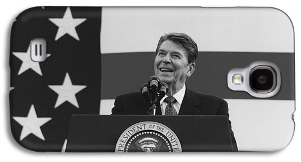Ronald Reagan Galaxy S4 Cases - President Reagan American Flag  Galaxy S4 Case by War Is Hell Store
