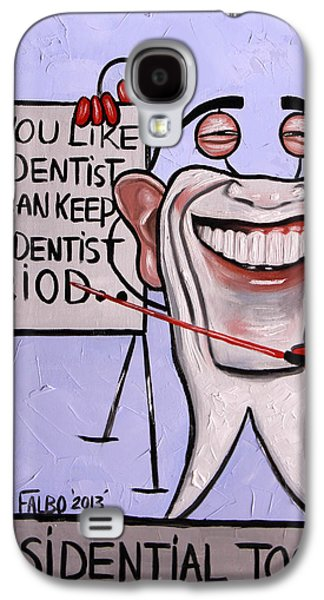 Obama Galaxy S4 Cases - Presidential Tooth Dental Art By Anthony Falbo Galaxy S4 Case by Anthony Falbo
