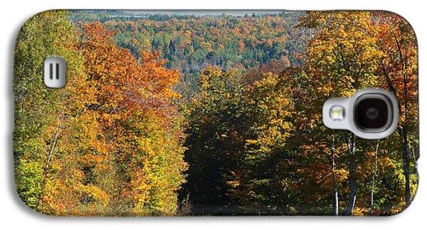 Rural Maine Roads Galaxy S4 Cases - Presque Isle View Galaxy S4 Case by Gene Cyr