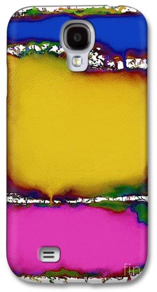 Splashy Digital Art Galaxy S4 Cases - Press 2 Galaxy S4 Case by Keith Mills