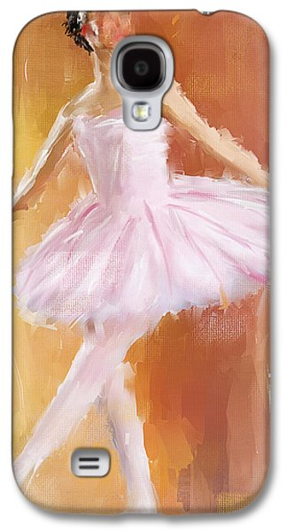 Ballet Dancers Paintings Galaxy S4 Cases - Pretty Ballerina Galaxy S4 Case by Lourry Legarde