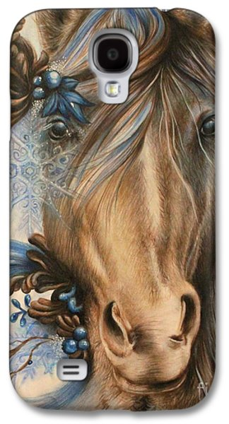Surrealism Pastels Galaxy S4 Cases - Pretty Blue Galaxy S4 Case by Sheena Pike