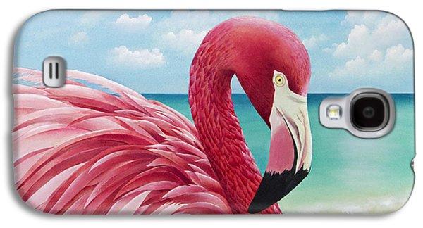 Pretty In Pink Galaxy S4 Case by Carolyn Steele