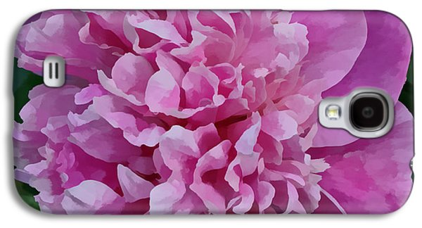 Indiana Flowers Galaxy S4 Cases - Pretty Peony Galaxy S4 Case by Sandy Keeton