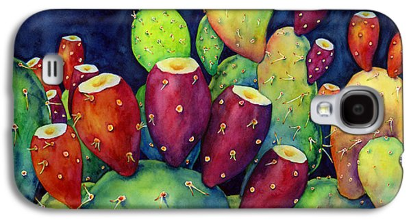 Botanical Galaxy S4 Cases - Prickly Pear Galaxy S4 Case by Hailey E Herrera