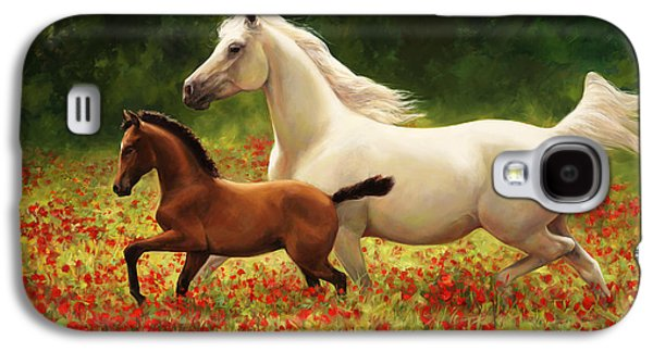 Steer Paintings Galaxy S4 Cases - Pride and Joy Galaxy S4 Case by Laurie Hein