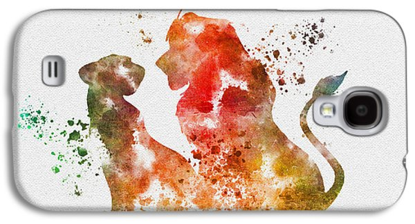 Lions Mixed Media Galaxy S4 Cases - Pride of Africa Galaxy S4 Case by Rebecca Jenkins
