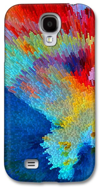 Primary Joy - Abstract Art By Sharon Cummings Galaxy S4 Case by Sharon Cummings