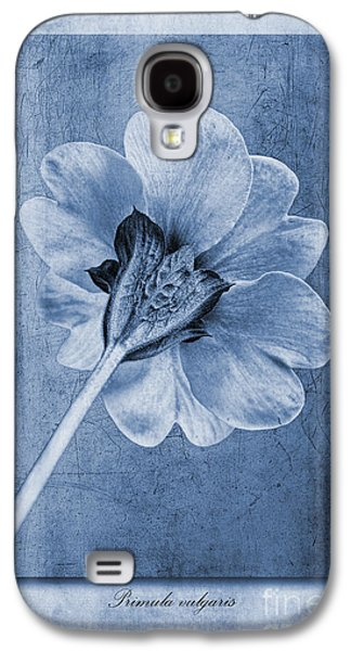 Textured Digital Art Galaxy S4 Cases - Primula vulgaris Cyanotype Galaxy S4 Case by John Edwards