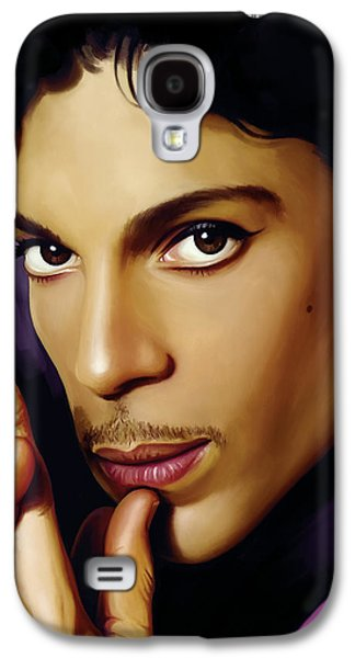 Print Mixed Media Galaxy S4 Cases - Prince Artwork Galaxy S4 Case by Sheraz A