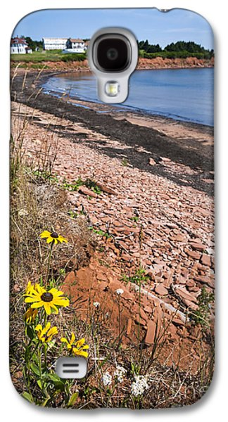 Fishing Village Galaxy S4 Cases - Prince Edward Island coastline Galaxy S4 Case by Elena Elisseeva