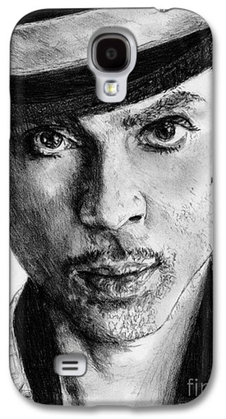 African-american Drawings Galaxy S4 Cases - Prince Nelson in 2006 Galaxy S4 Case by J McCombie